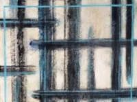 "Soft Blue Gray Lines, 24""x12"""