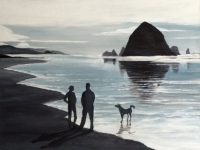 Haystack Rock (Cannon Beach, OR), 40x30