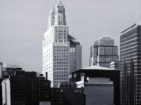 Downtown Kansas City (black and white), 36x36