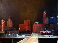 Grand Boulevard, Night View, 48x60