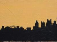 Kansas City Skyline, (12x24)