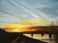 Missouri River Sunset 2011, 24x36