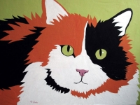 Sherbet (Calico Cat), 24x36