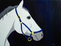 Dusk (Gray Horse), 18x24