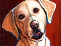 """Chloe (Labrador Retriever), 5""""x5"""", $60"""