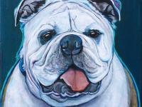 """Clarence (English Bulldog), 10""""x10"""""""