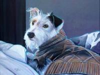 """Good Morning, Harriet (Terrier Mix), 11""""x14"""""""