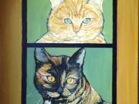 Tygra and Meowser (Tabby and TortoiseshellCat), 20x16