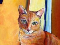 Cheese (Tabby Cat), 24x12