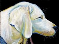 Dog Days (Yellow Labrador Retriever), 12x12