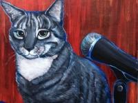 Kitty (Gray Tabby Cat), 10x10