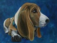 Sadie (Bassett Hound), 12x16