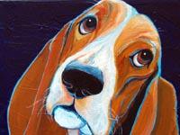 Lovey Dovey (Bassett Hound), 12x12