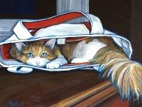 Oscar in the Sack (Tabby Cat), 11x14