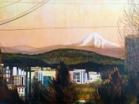 "East View from the West Hills (Portland, OR), 24""x36"""